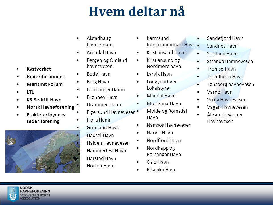 Hvem deltar nå Alstadhaug havnevesen Karmsund Interkommunale Havn