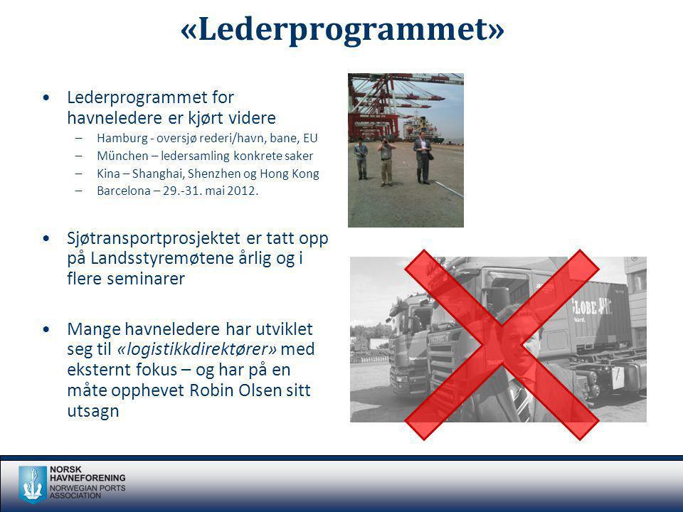 «Lederprogrammet» Lederprogrammet for havneledere er kjørt videre