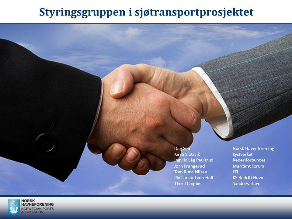 Styringsgruppen i sjøtransportprosjektet