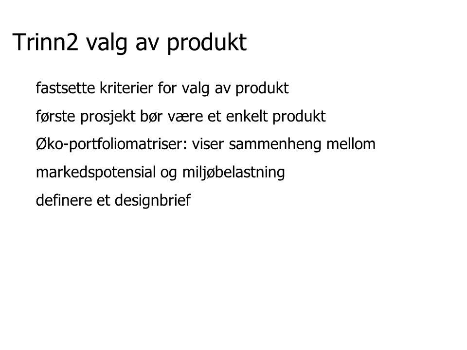 Trinn2 valg av produkt