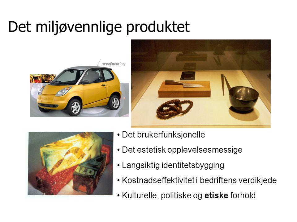 Det miljøvennlige produktet