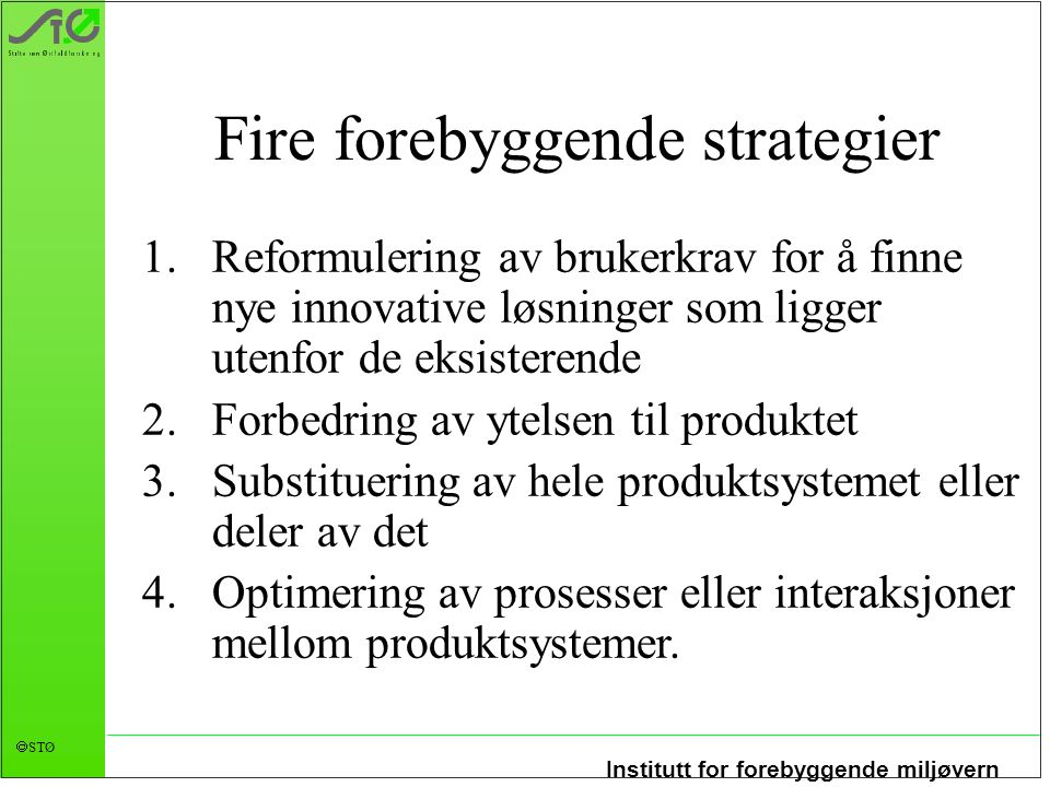 Fire forebyggende strategier