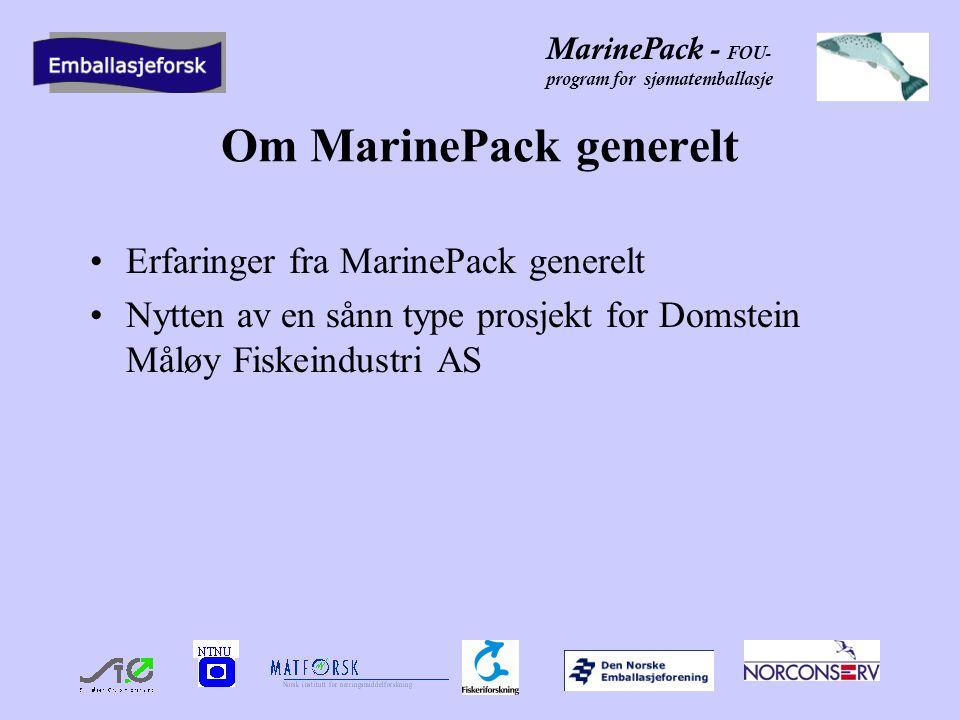 Om MarinePack generelt
