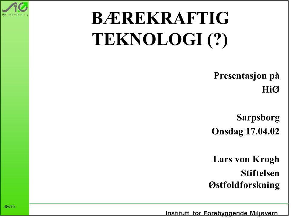 BÆREKRAFTIG TEKNOLOGI ( )