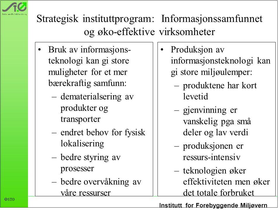 Strategisk instituttprogram: Informasjonssamfunnet og øko-effektive virksomheter