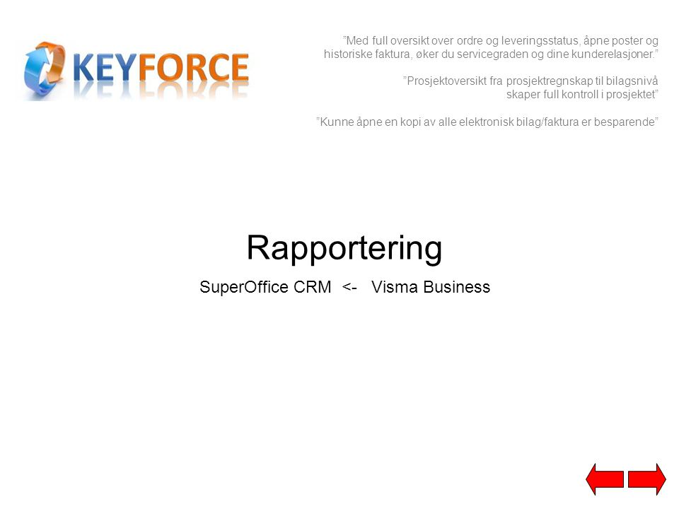 SuperOffice CRM <- Visma Business