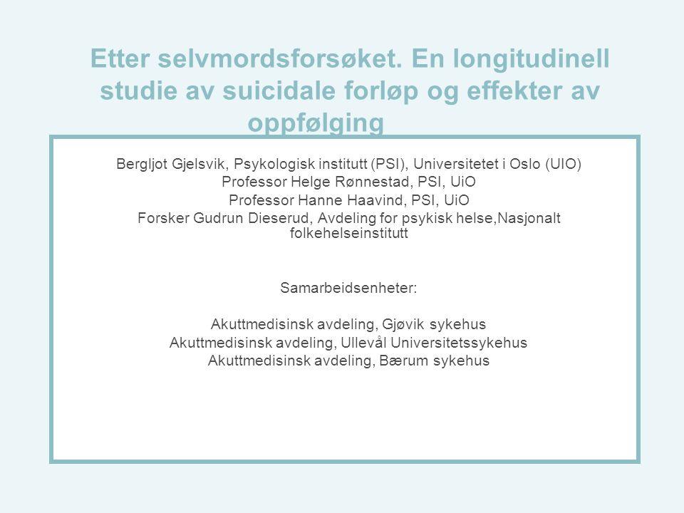Etter selvmordsforsøket