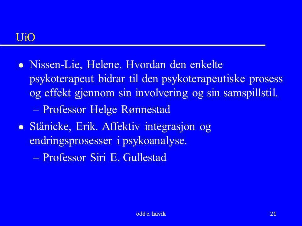 Professor Helge Rønnestad