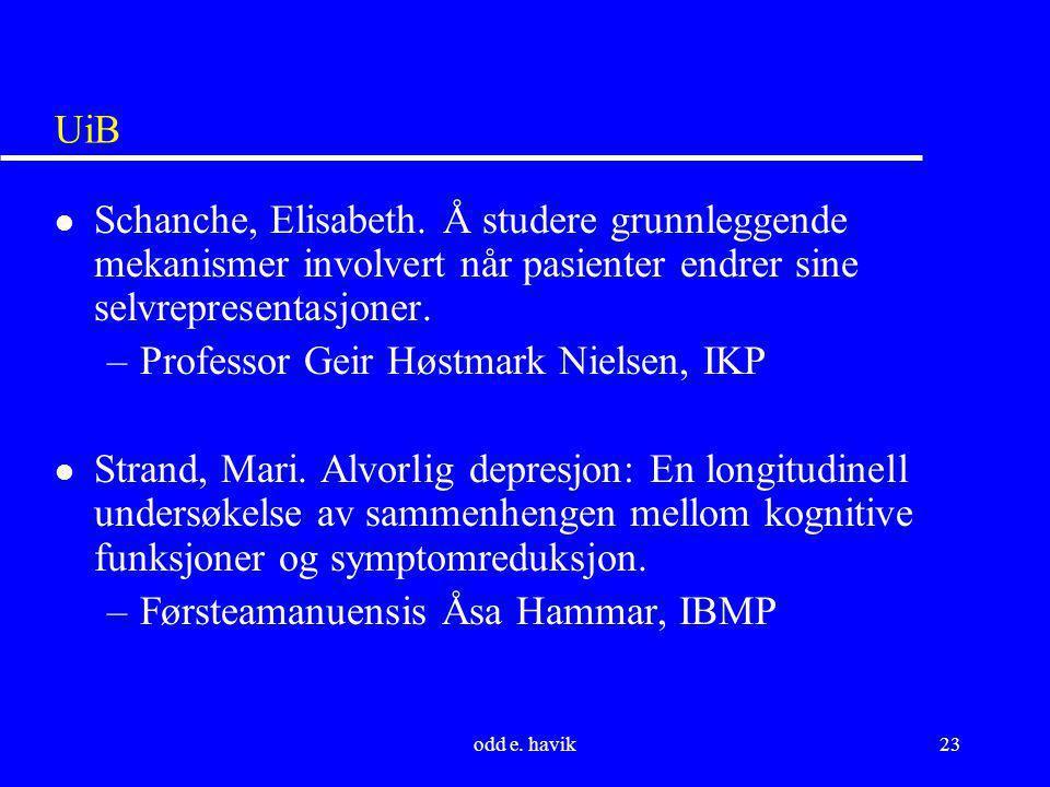 Professor Geir Høstmark Nielsen, IKP
