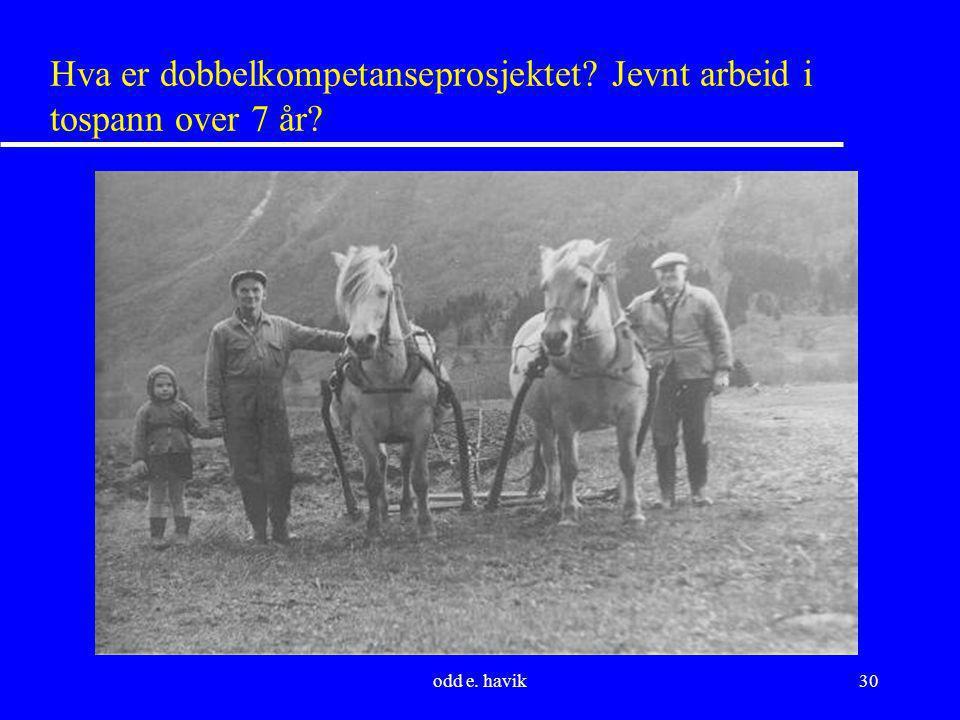 Hva er dobbelkompetanseprosjektet Jevnt arbeid i tospann over 7 år