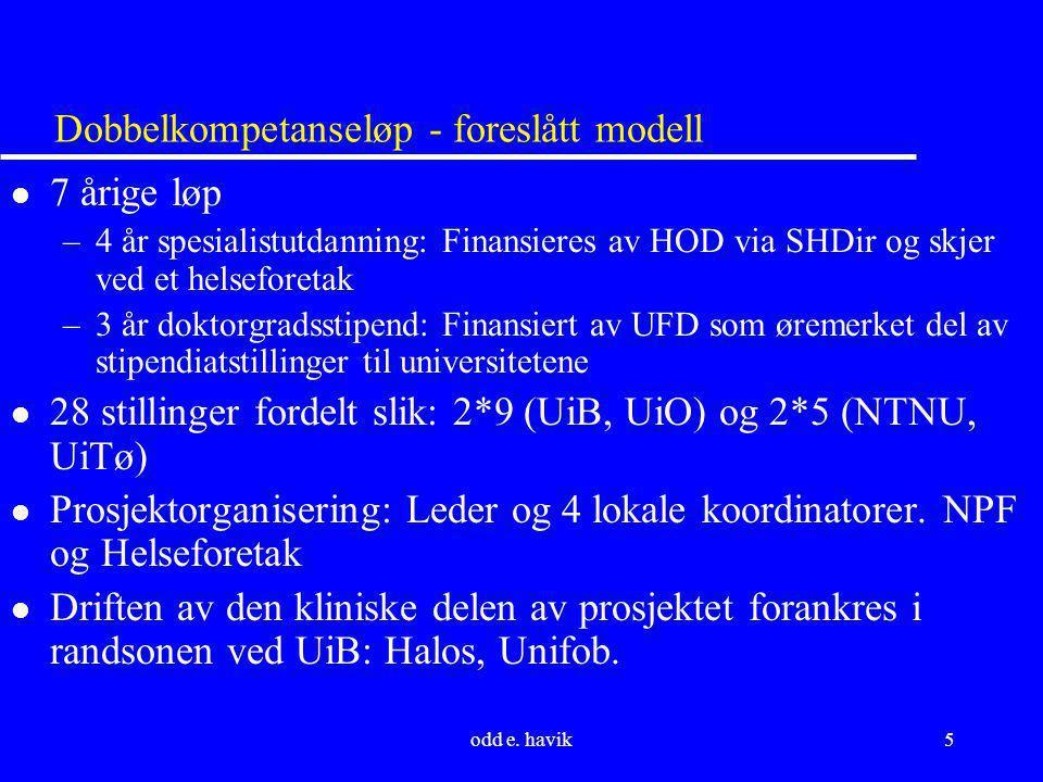 Dobbelkompetanseløp - foreslått modell