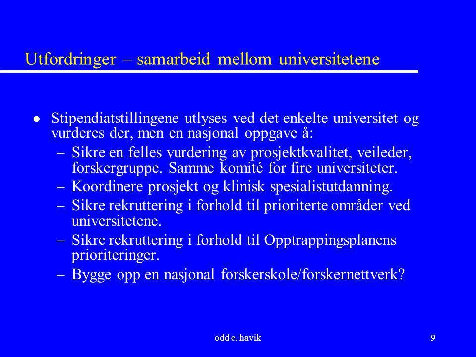 Utfordringer – samarbeid mellom universitetene