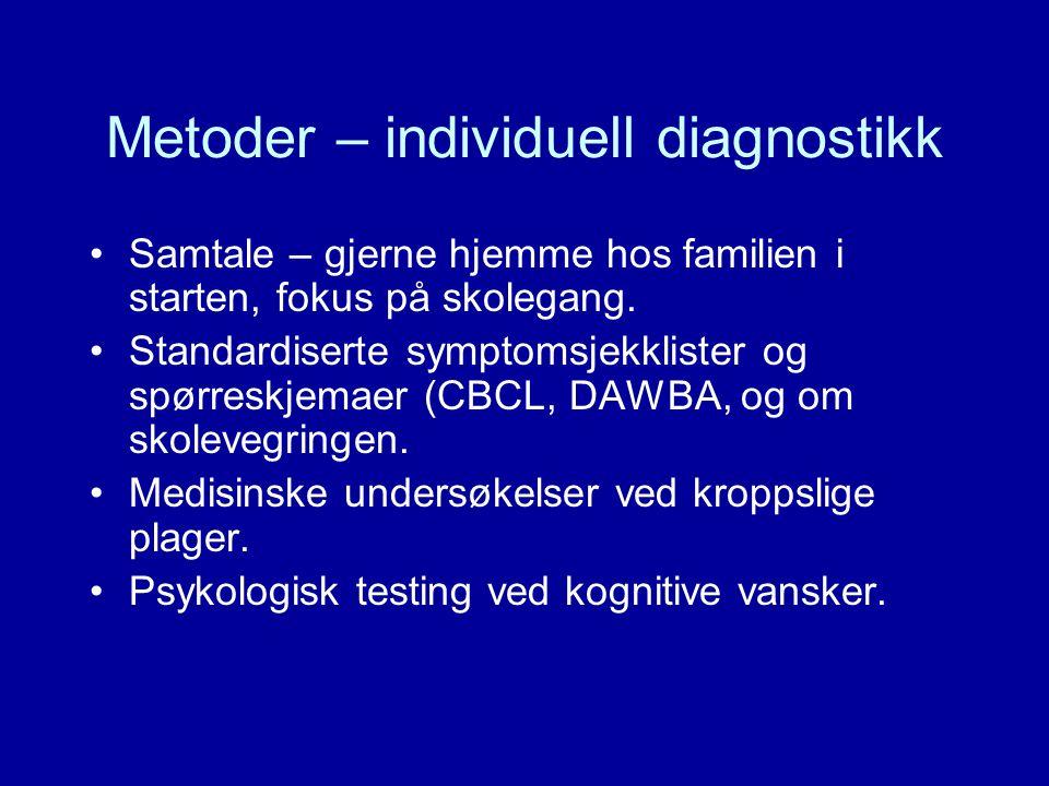 Metoder – individuell diagnostikk
