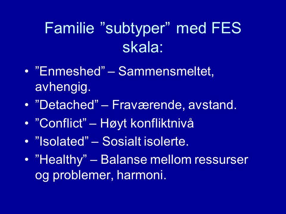 Familie subtyper med FES skala: