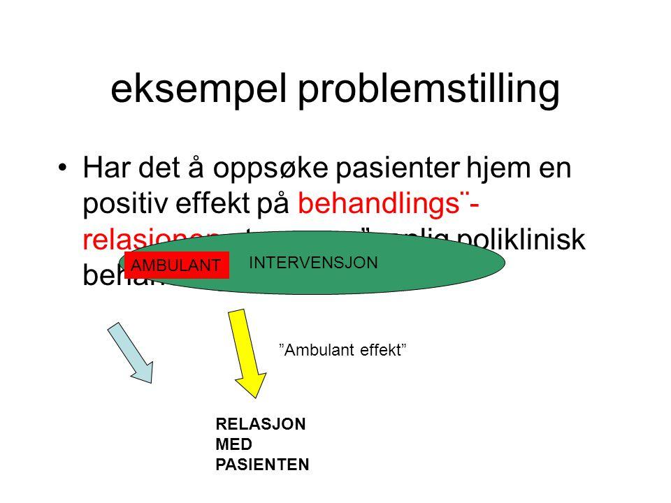eksempel problemstilling