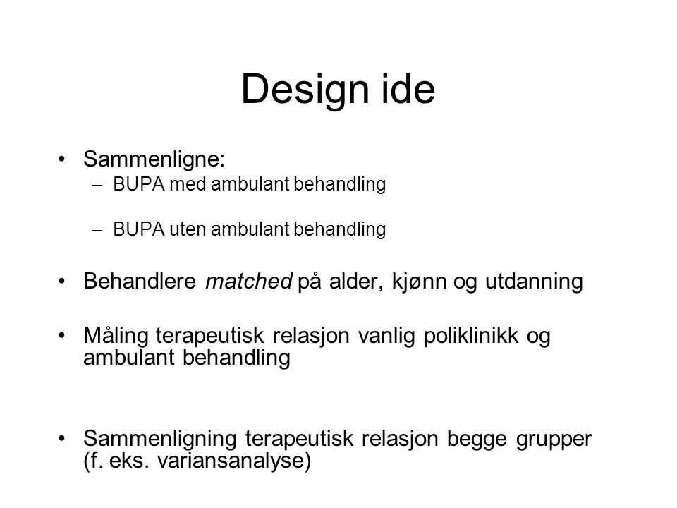 Design ide Sammenligne: