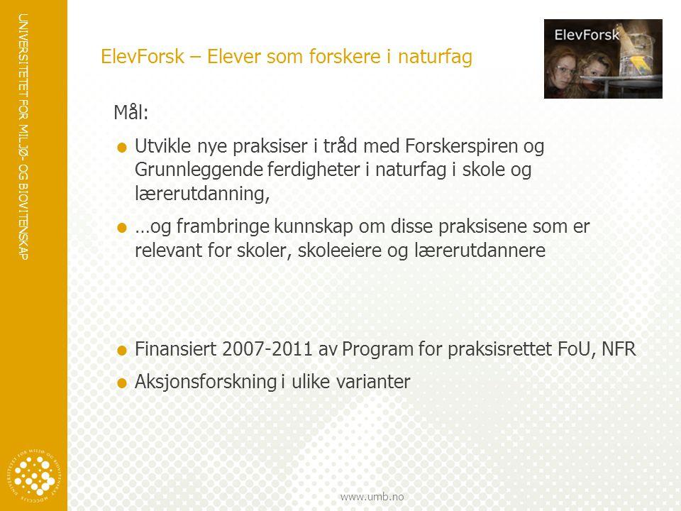 ElevForsk – Elever som forskere i naturfag