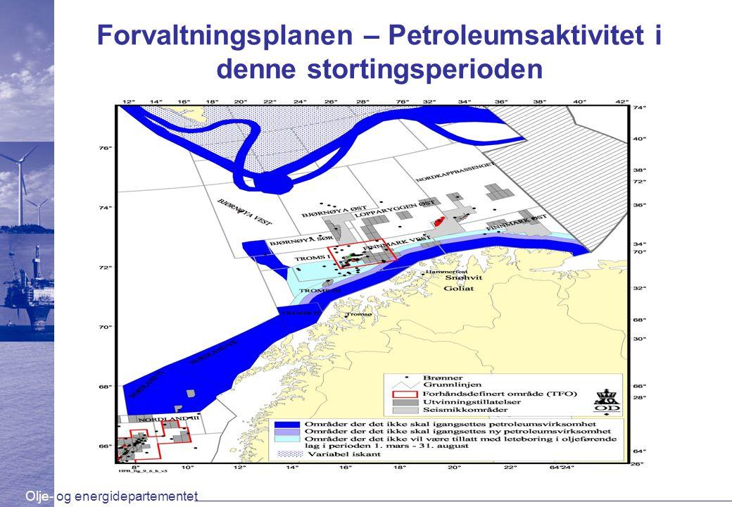 Forvaltningsplanen – Petroleumsaktivitet i denne stortingsperioden