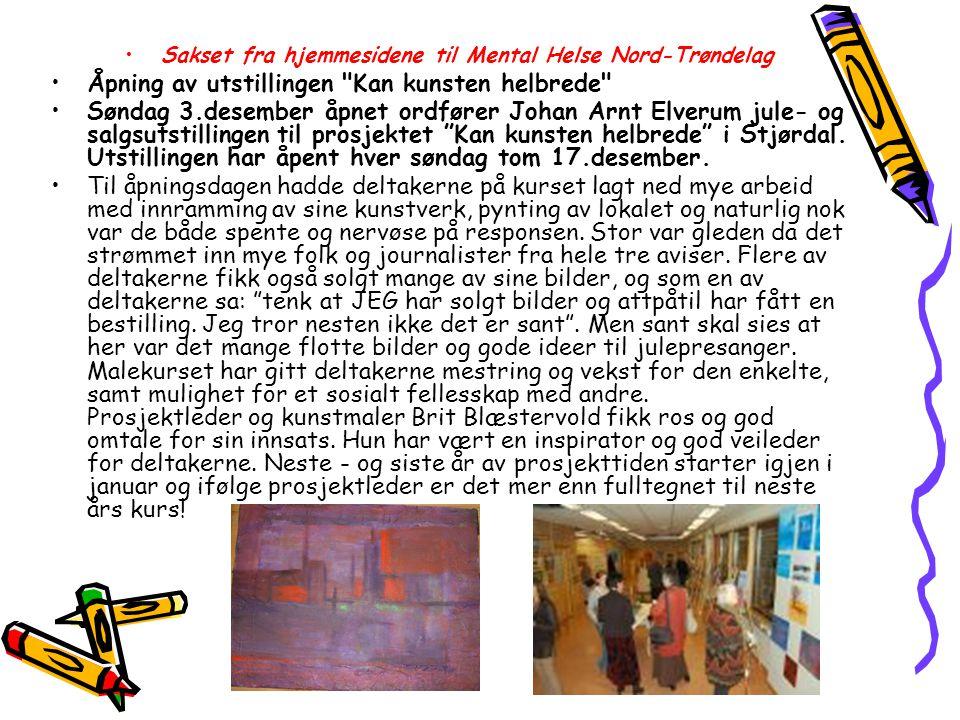 Sakset fra hjemmesidene til Mental Helse Nord-Trøndelag