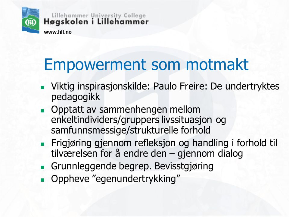 Empowerment som motmakt