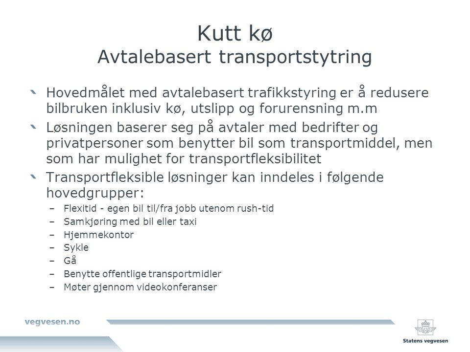Kutt kø Avtalebasert transportstytring