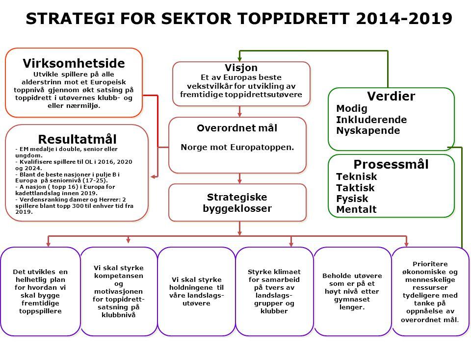 STRATEGI FOR SEKTOR TOPPIDRETT 2014-2019
