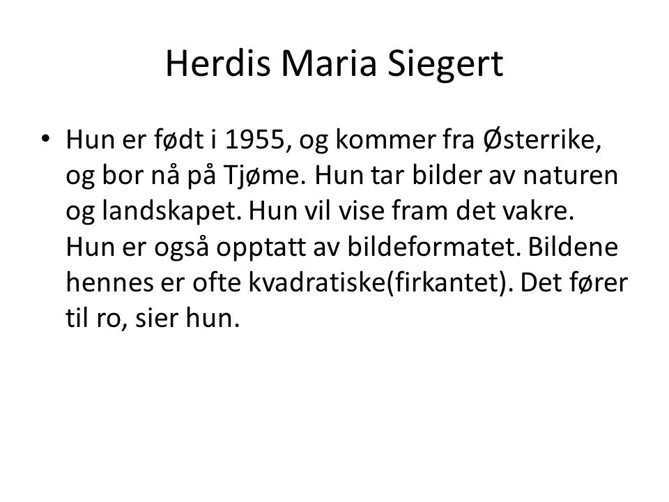 Herdis Maria Siegert