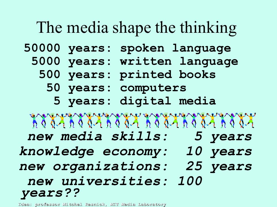 The media shape the thinking