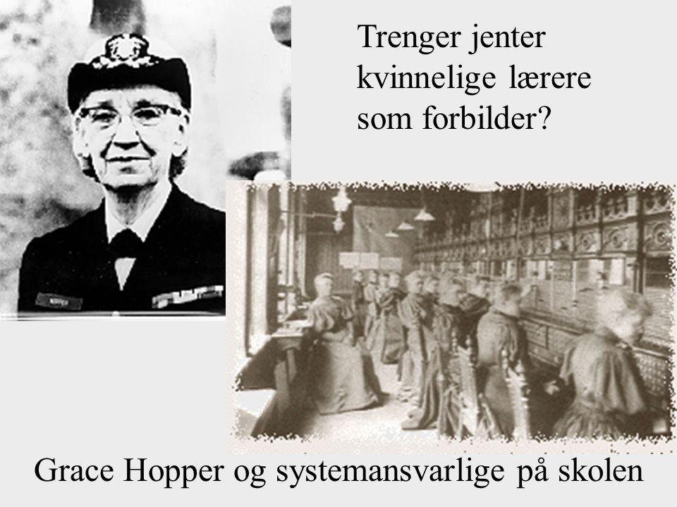 Grace Hopper og systemansvarlige på skolen