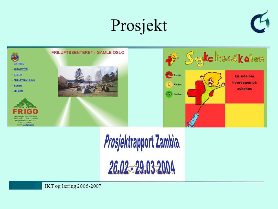 Prosjekt IKT og læring 2006-2007