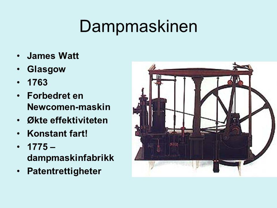Dampmaskinen James Watt Glasgow 1763 Forbedret en Newcomen-maskin