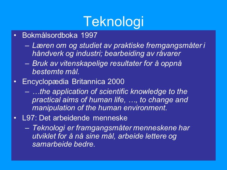 Teknologi Bokmålsordboka 1997