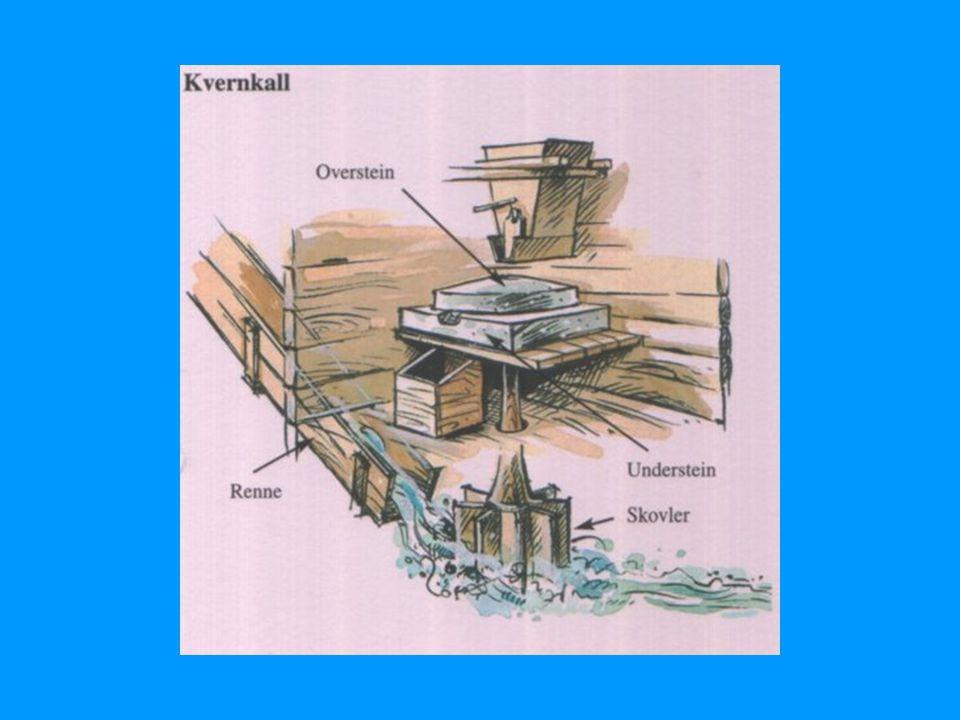 Kvernkallen er den enkleste måten å utnytte energien i elva.