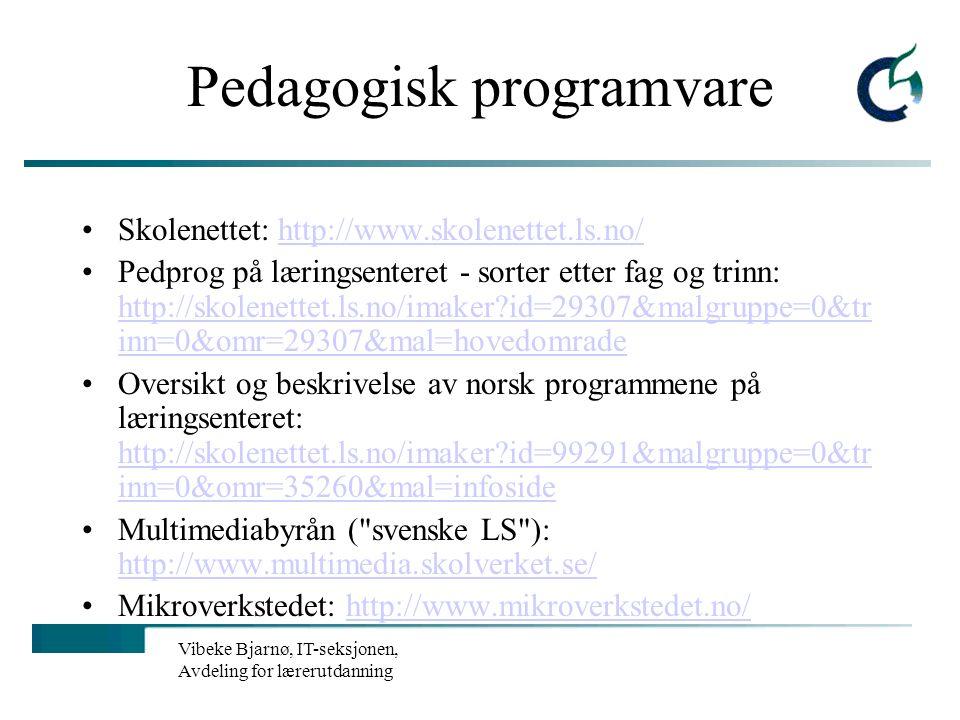 Pedagogisk programvare