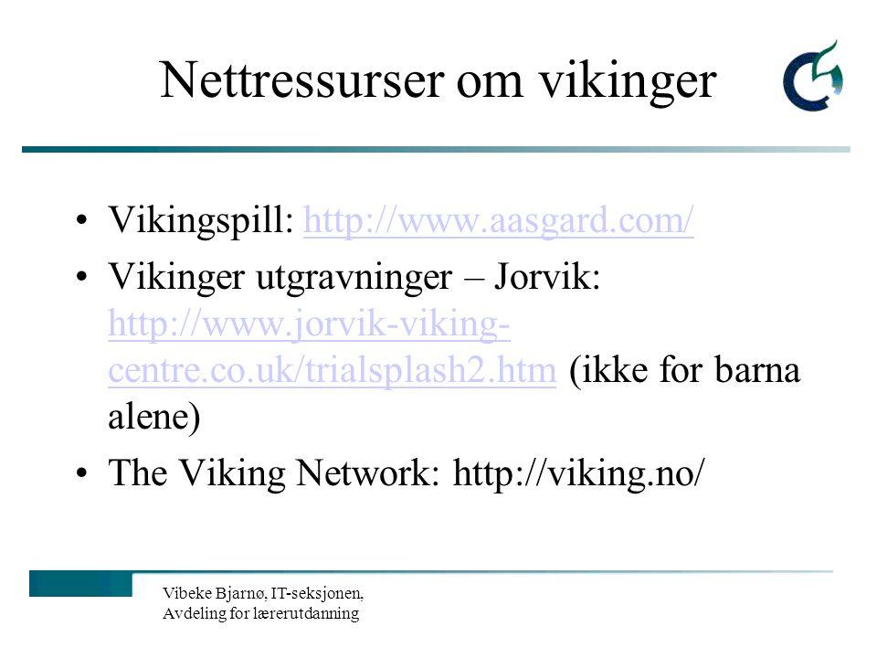 Nettressurser om vikinger