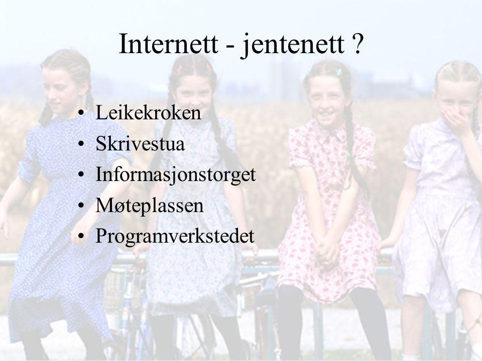 Internett - jentenett Leikekroken Skrivestua Informasjonstorget