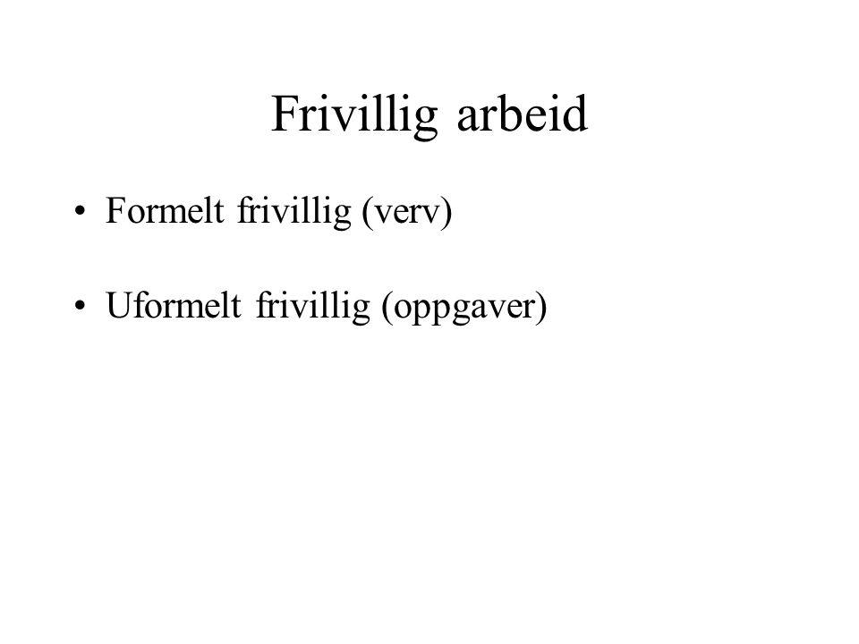 Frivillig arbeid Formelt frivillig (verv)