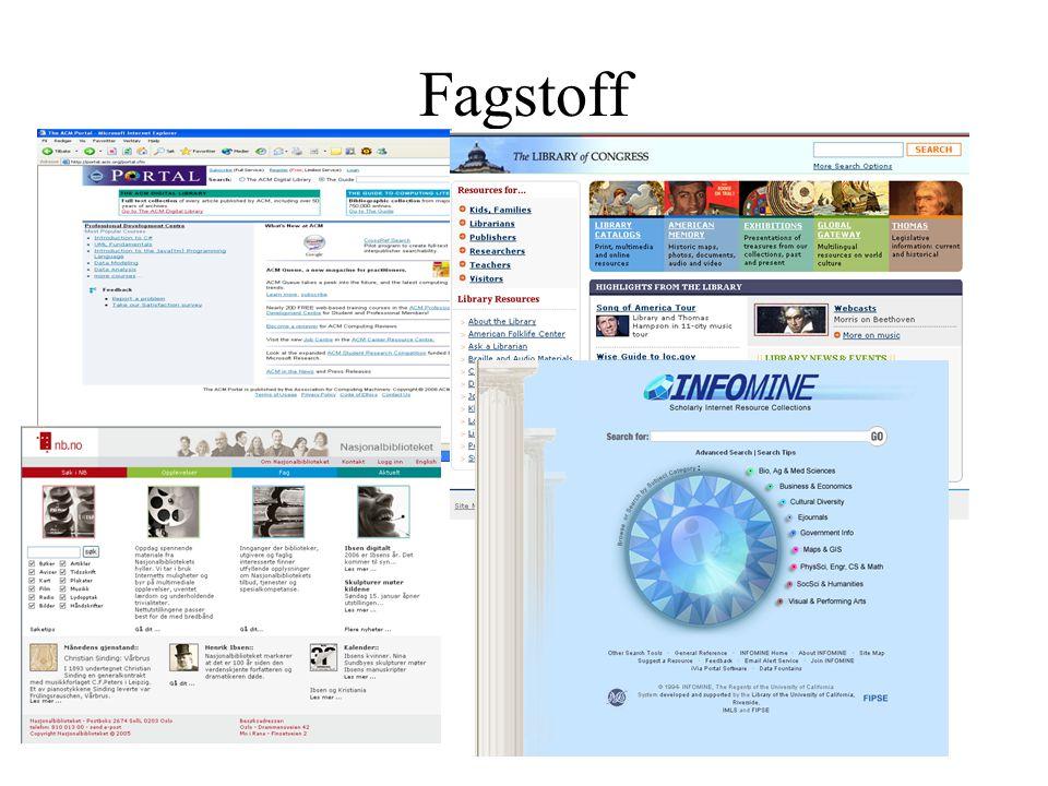 Fagstoff FAØ/VB LU/HiO 2007