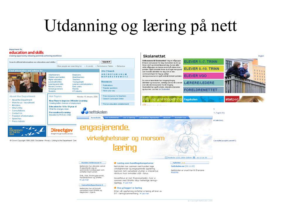 Utdanning og læring på nett