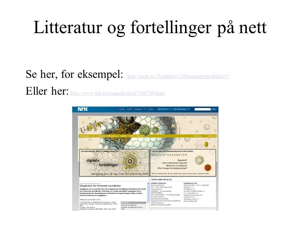 Litteratur og fortellinger på nett