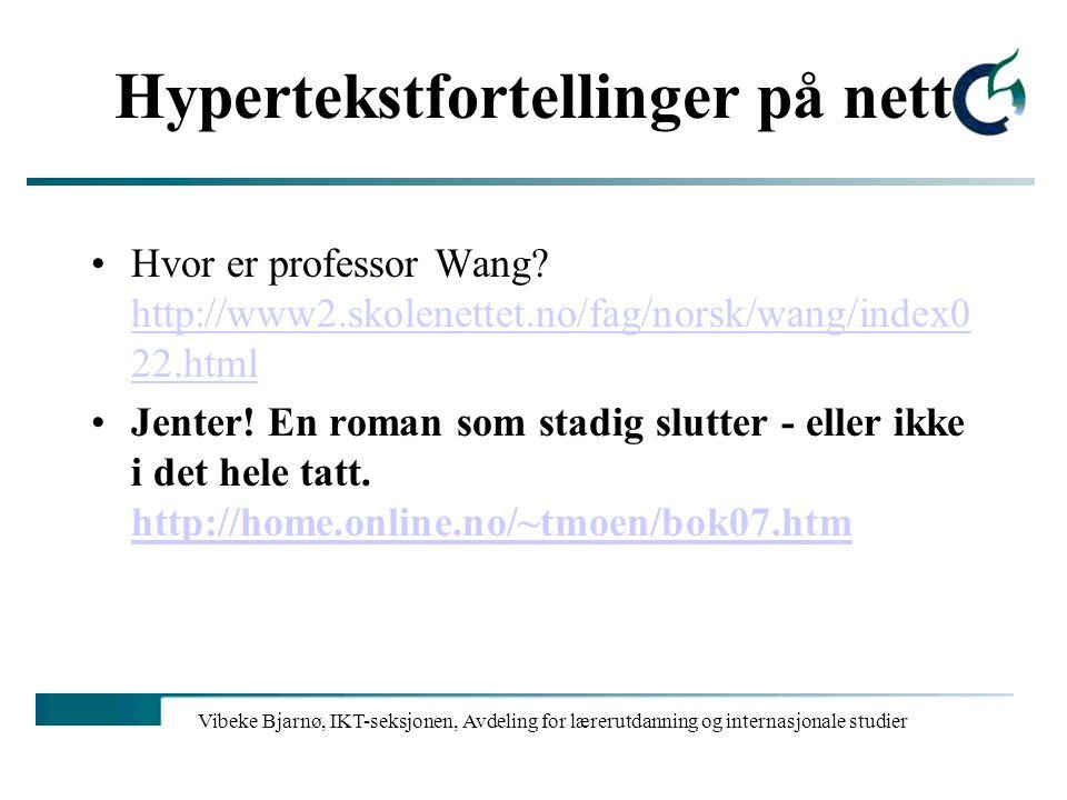 Hypertekstfortellinger på nett