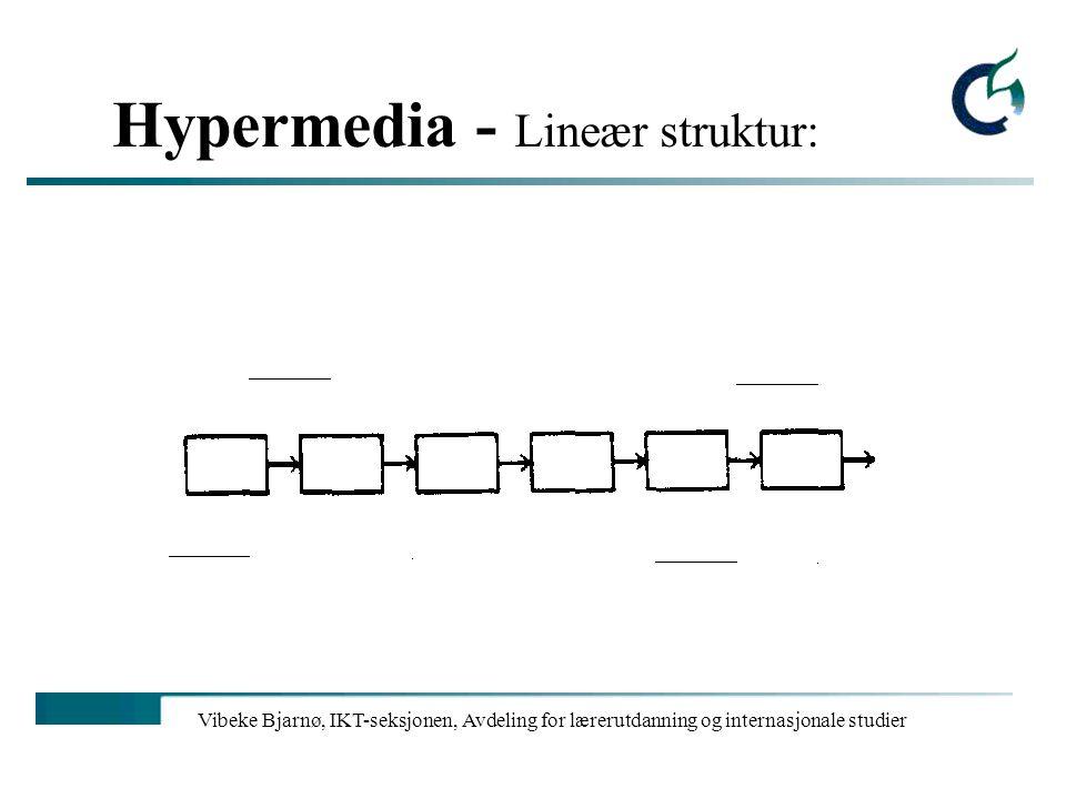 Hypermedia - Lineær struktur: