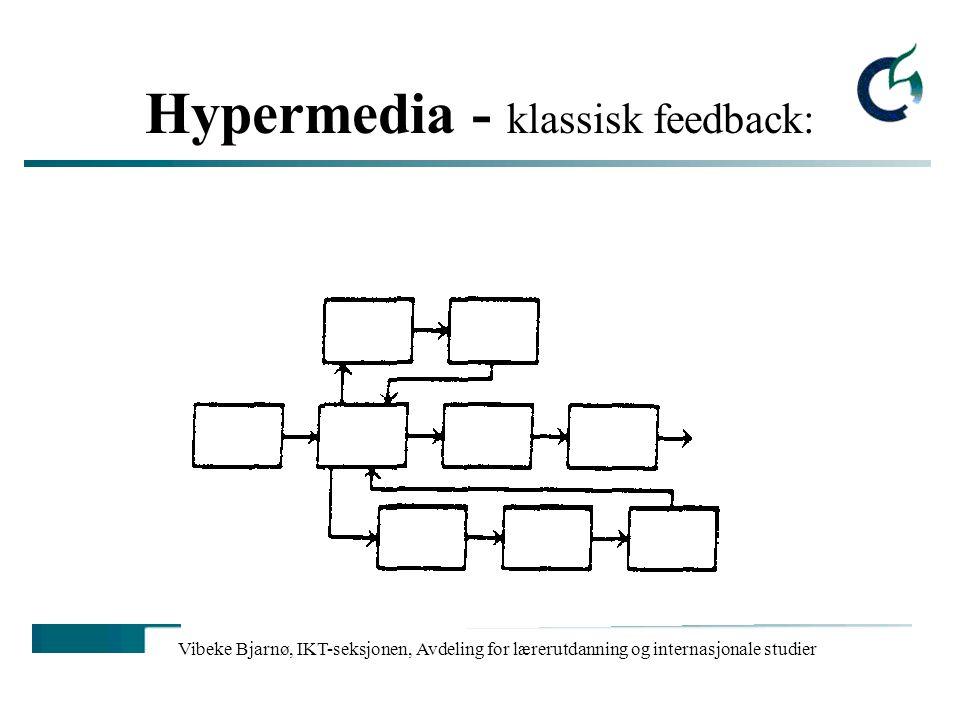 Hypermedia - klassisk feedback: