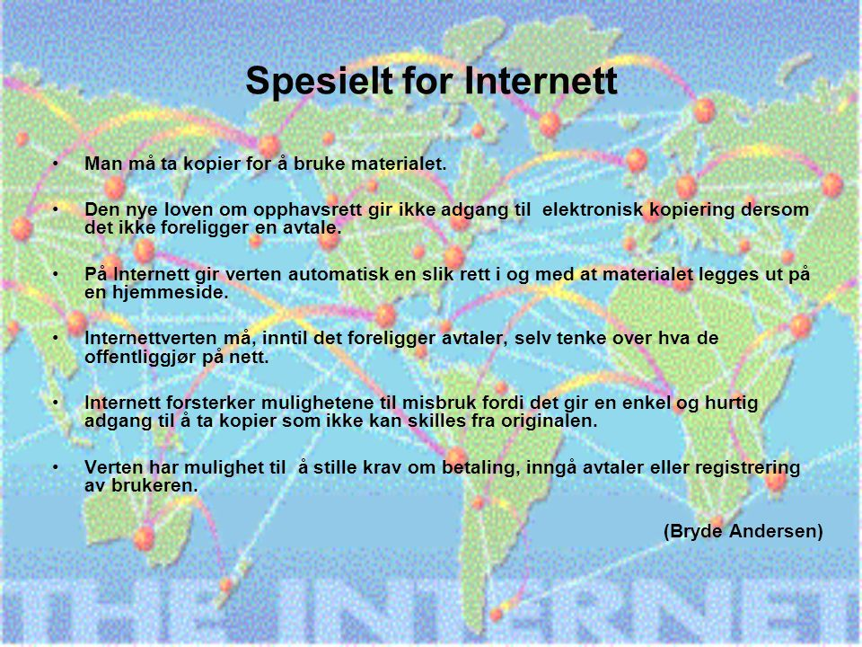 Spesielt for Internett