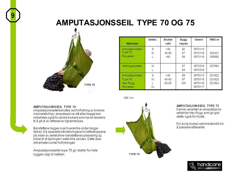 AMPUTASJONSSEIL TYPE 70 OG 75