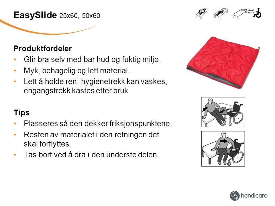 EasySlide 25x60, 50x60 Produktfordeler