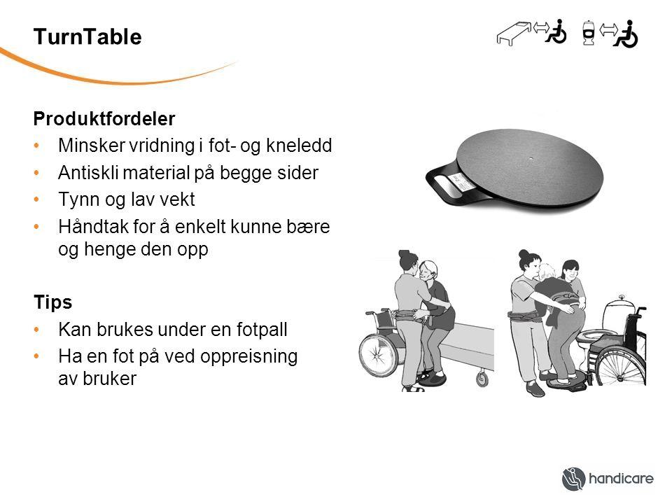 TurnTable Produktfordeler Minsker vridning i fot- og kneledd