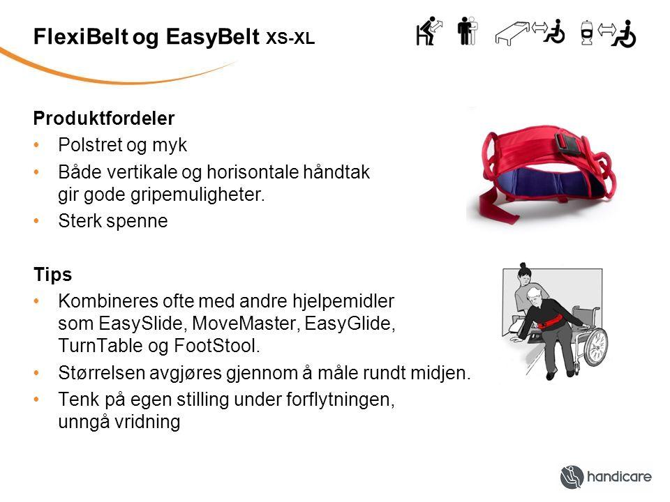 FlexiBelt og EasyBelt XS-XL