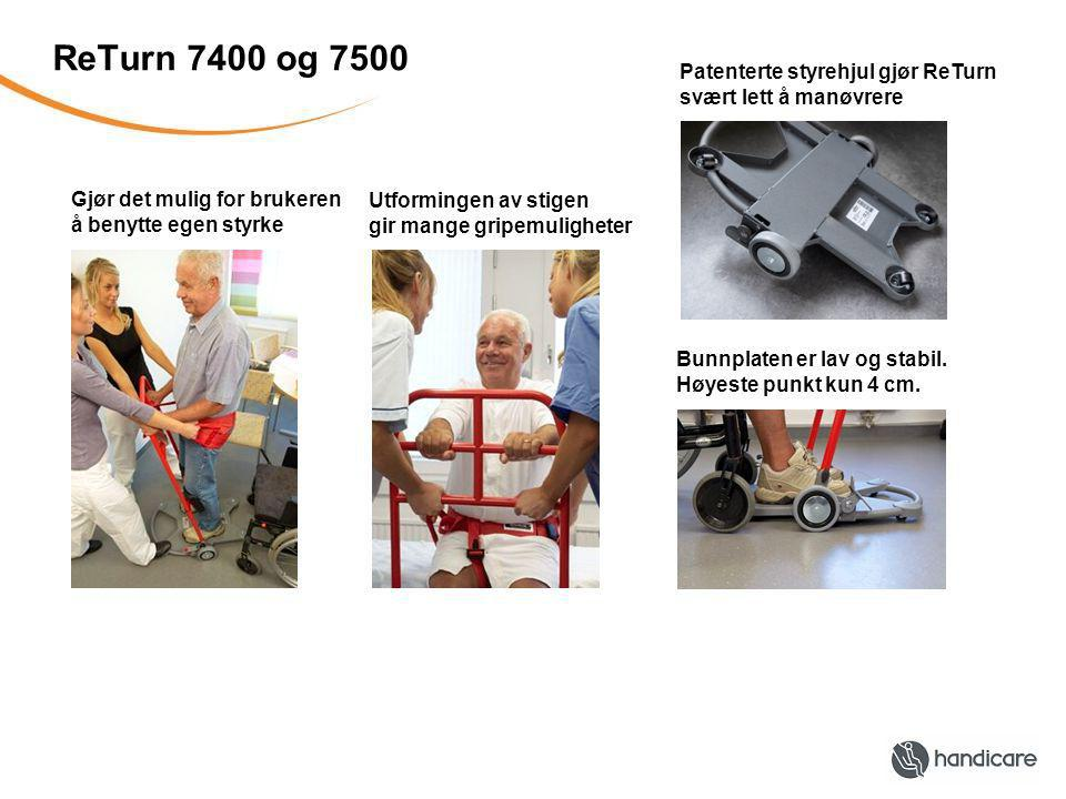 ReTurn 7400 og 7500 Patenterte styrehjul gjør ReTurn
