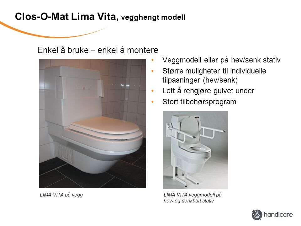 Clos-O-Mat Lima Vita, vegghengt modell